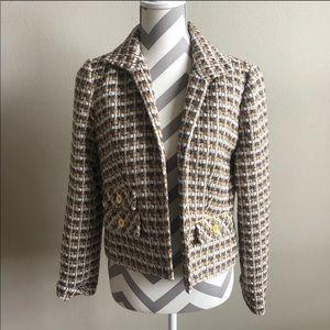 Chico's Neutral Tweed Blazer S NWT